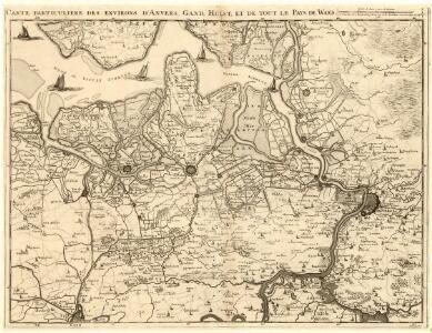 Carte particuliere des Environs d'Anvers. Gand Hulst. et de tout le Pays de Waes