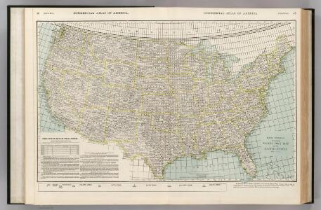 Parcel Post Map of the United States.