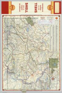 Shell Highway Map of Idaho.