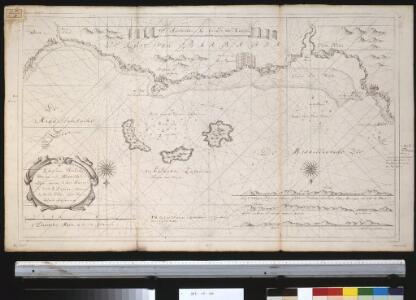 De kust van Barbaria voor aen in de Middellandse Zee tussen C. de Hone en C. de 3 Forcas, vertonende de anker plaets agter de eijlande Zafarinos