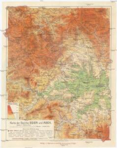 Karte der Bezirke Eger und Asch