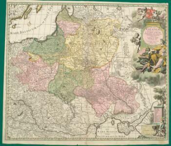 Regni Poloniae, Magni Ducatus Lithuaniae Coeterarumq[ue] Regi Poloniae Subditarum Regionum Tabula