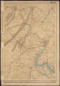 E. & G.W. Blunt's corrected map of Washington and the seat of war on the Potomac