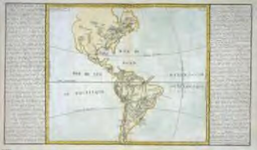 Lacs, fleuves, rivieres et principales montagnes de l'Amerique