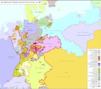 Die deutschen Staaten nach dem Frieden von Tilsit 7. Juli 1807