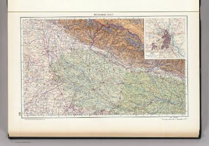 139.  Upper Ganga (Ganges) Valley.  Delhi.  The World Atlas.