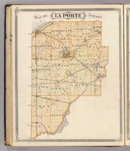 Map of La Porte County.