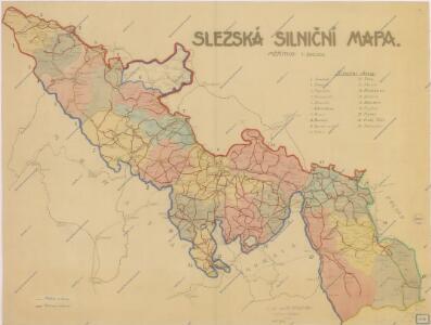Slezská silniční mapa