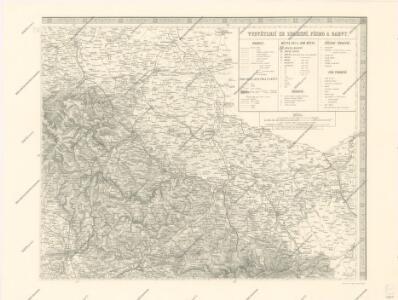 Mapa země Moravské. S částmi pohraničnými Slezska, Čech, Rakous i Uher