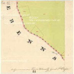 Glöckelberg - c9317-3-018 - Kaiserpflichtexemplar der Landkarten des stabilen Katasters