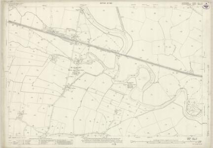 Derbyshire LIII.9 (includes: Draycott in the Clay; Foston and Scropton; Hanbury; Marchington; Sudbury) - 25 Inch Map