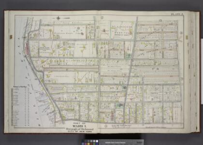 Part of Ward 1. [Map bound by Sailors Snug Harbor,    Henderson Ave, Castleton Ave, Forest Ave, Broadway, Kill Van Kull]