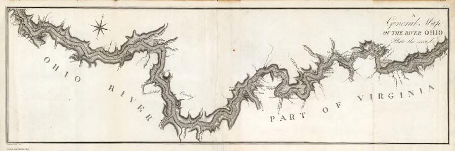 A General Map of the River Ohio, Plate the second.