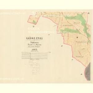 Gösling - m1293-1-002 - Kaiserpflichtexemplar der Landkarten des stabilen Katasters