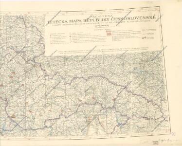 Přehledná letecká mapa republiky Československé
