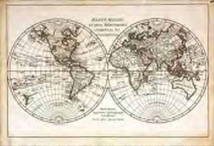 Mappe monde en deux hémispheres