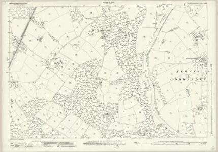 Monmouthshire XIX.5 (includes: Goetre Fawr; Gwehelog Fawr; Llanbadog Fawr; Llanover Fawr) - 25 Inch Map