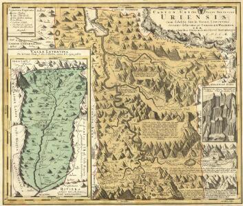 Canton Uri sive Pagus Helvetiae Uriensis cum subditis suis in Valle Lepontina recenter delineatus