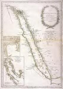 Karte des arabischen Meerbusens oder des Rothen Meeres