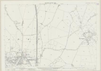 Leicestershire XXXIX.15 (includes: Blaston; Hallaton; Horninghold) - 25 Inch Map