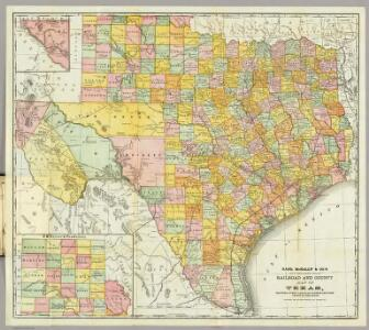 Rand McNally ... Railroad And County Map Of Texas.