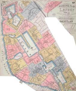 Insurance Plan of London Vol. V: Key Plan 1