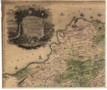 Map of  Haddingtonshire.