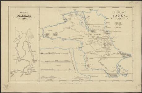 Het eiland Banka, 1819 [and] De rivier van Palembang, 1821
