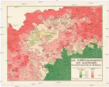 Les Tchécoslovaques et les Allemands au nord-ouest de la Boheme
