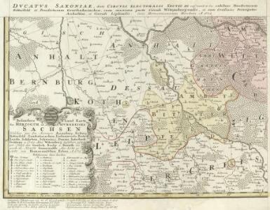 Besondere Land Karte des Herzogth. od. Chvrkreises Sachsen :