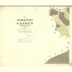 Wadetstieft - c2378-1-001 - Kaiserpflichtexemplar der Landkarten des stabilen Katasters