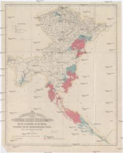 Übersichts-Karte der Weinbau-Gebiete Österreich's