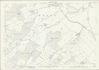 Kent LXV.8 (includes: Brabourne; Hastingleigh; Wye) - 25 Inch Map