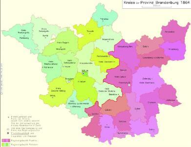 Kreise der Provinz Brandenburg 1864