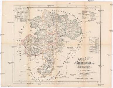 Special-Karte des Jičiner Kreis - resp. politischen Verwaltungs Bezirkes in Böhmen