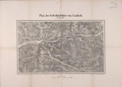Plan des Gefechtsfeldes von Laufach