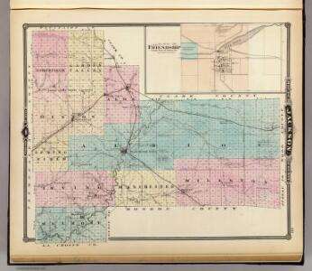 Map of Jackson County, Plat of Friendship, State of Wisconsin.