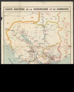 Carte routière de la Cochinchine et du Cambodge
