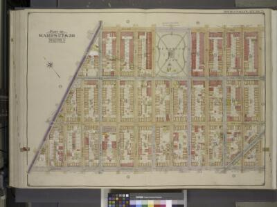 Brooklyn, Vol. 3, Double Page Plate No. 25; Part of   Wards 27 & 28, Section 11; [Map bounded by Irving Ae., Stanhope St.; Including   Central Ave., Flushing Ave.]