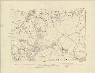 Montgomeryshire XXIII.NW - OS Six-Inch Map