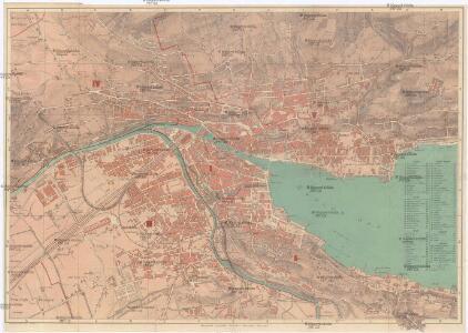 Plan der stadt Zürich