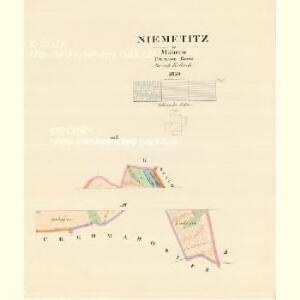 Niemetitz - m1998-1-004 - Kaiserpflichtexemplar der Landkarten des stabilen Katasters