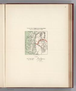 Facsimile:  U.S. Map, Tracing Certified by J.S. Dennis