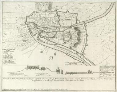Plan de la Ville et Citadelle de Liege