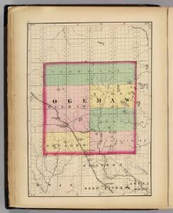 (Map of Ogemaw County, Michigan)