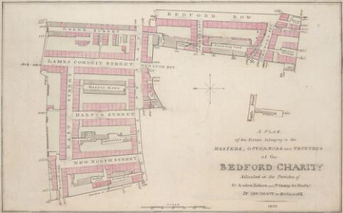 A PLAN of an Estate belonging to the MASTERS,GOVERNORS and TRUSTEES of the BEDFORD CHARITY Situated in the Parishes of St. Andrew Holborn and St. George the Martyr IN THE COUNTY OF MIDDLESEX 1803 29