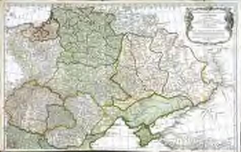 Troisième partie de la carte d'Europe contenant le midi de la Russie, la Pologne et la Hongrie, la Turquie y compris celle d'Asie presqu'entière, 1