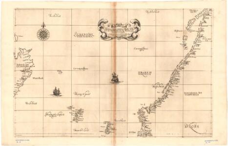 Museumskart 17 Kart over Norskehavet med Island, Færøyene, Shetland og norskekysten