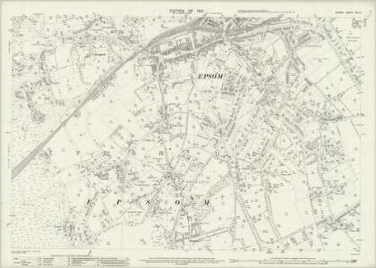 Surrey XIX.5 (includes: Epsom) - 25 Inch Map