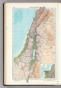 151.  Palestine and Lebanon.  The World Atlas.